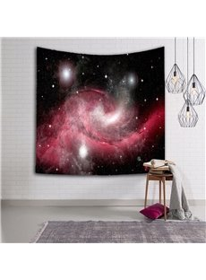 3D Red Whirlpool Galaxy Prints Hanging Wall Tapestry