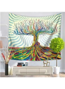 3D Oil Painting Colorful Tree and Branches Prints Hanging Wall Tapestry