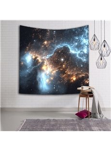 3D Nebula and Stars Galaxy Prints Hanging Wall Tapestry