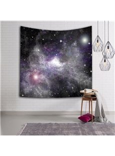 3D Dark Purple Nebula Galaxy Prints Hanging Wall Tapestry