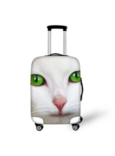 White Cat Green Eyes Animals Face Personality 18-30 Inch Travel Luggage Cover