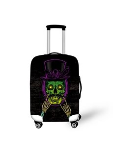Green Skeleton Face with Beard Caps Outdoor Waterproof 3D luggage Covers