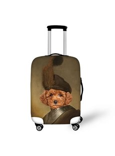 Teddy Dog's Face Soldier Animals Spandex Fits 18-30 Inch 3D Luggage Covers