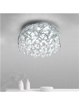 Golden/Silver Round Crystal Strings 10 Light Sources LED Flush Mount