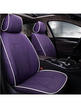 Elegant And Simplified Design Design Pure Color Flax Custom Fit Car Seat Cover
