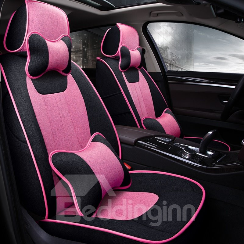 Comfortable Design Casual Contrasting Colors Custom Fit Car Seat Covers