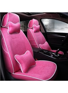 Elegant Comfortable Design Pure Color Flax Custom Fit Car Seat Cover