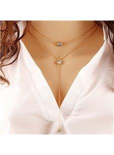 Tassel Diamond Jewelry Sexy Pendant for Women Necklace