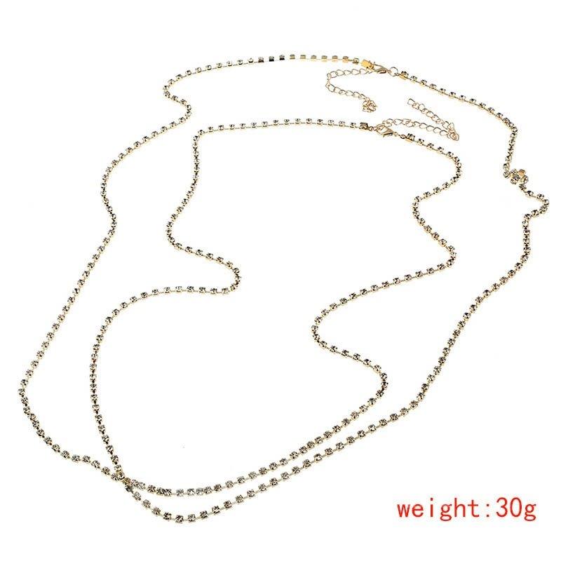 Women Jewelry Bikini Necklace Cross Harness Waist Body Chain