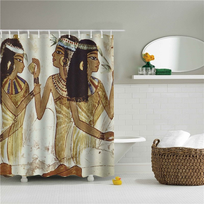 3D Chatting Women Printed Polyester Bathroom Shower Curtain