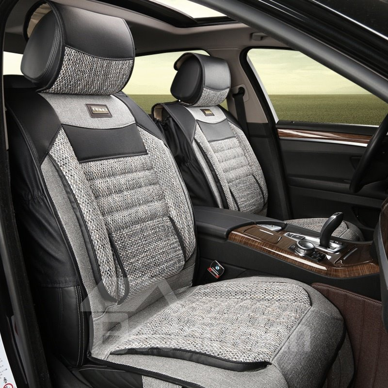 Comfy Design Soft And Breathable Linen Universal Car Seat Cover
