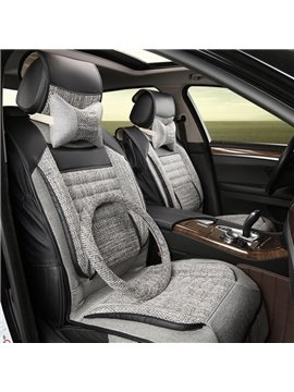 Comfy And Simple Design Soft And Breathable Linen Universal Car Seat Cover