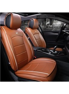 Modernistic Business Style Simple Stripes Leather Custom Car Seat Cover