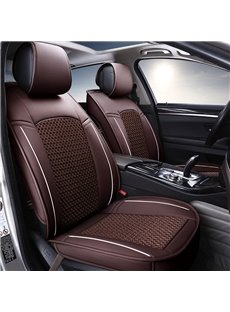 Business Styled Patterns Ventilating Net Custom Fit Car Seat Cover
