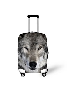 Wolf Face Cool Style Washable Waterproof Spandex Animals 3D Luggage Cover