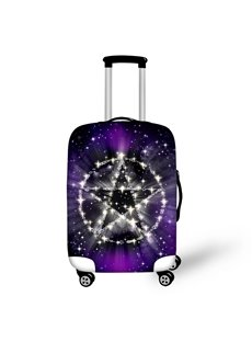 Star Slogan Galaxy Purple Washable Waterproof Stretch 3D Print Luggage Protective Cover