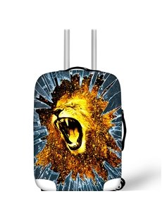 Roar Lion Personality Spandex Waterproof Washable 3D Animals Travel Luggage Cover