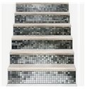 Square Plaids 6-Piece 3D PVC Waterproof Stair Mural