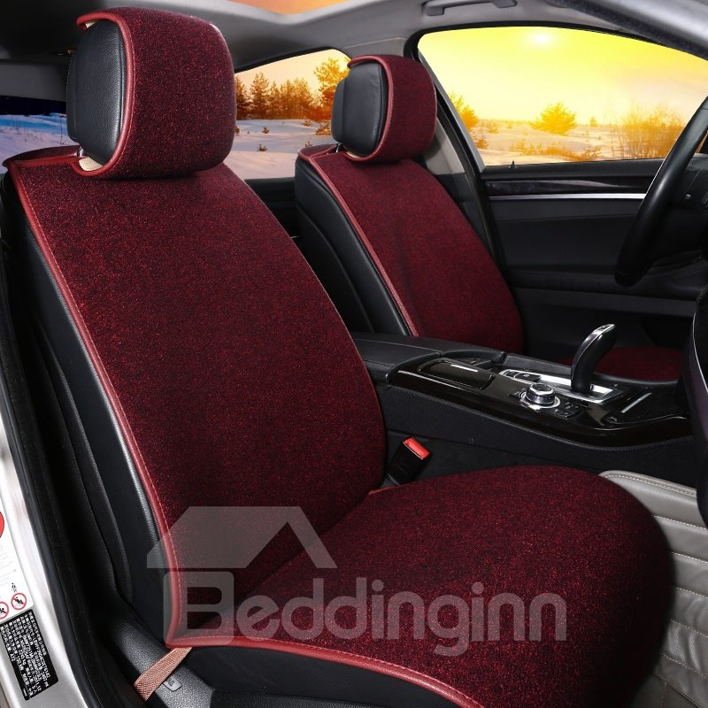 Simplicity Design Pure Color Comfortable Wool Universal Car Seat Cover