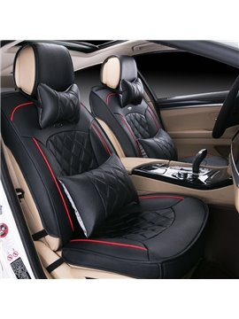 Luxury Series Business Design Plaid Diamond Patterns Universal Car Seat Cover
