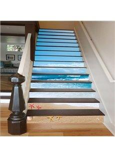 Blue Sky and Sea 3D Waterproof Stair Murals
