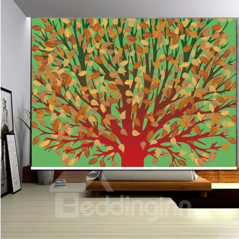 3D Tree Leaves Printed Blackout and Decor of Room Roller Shades