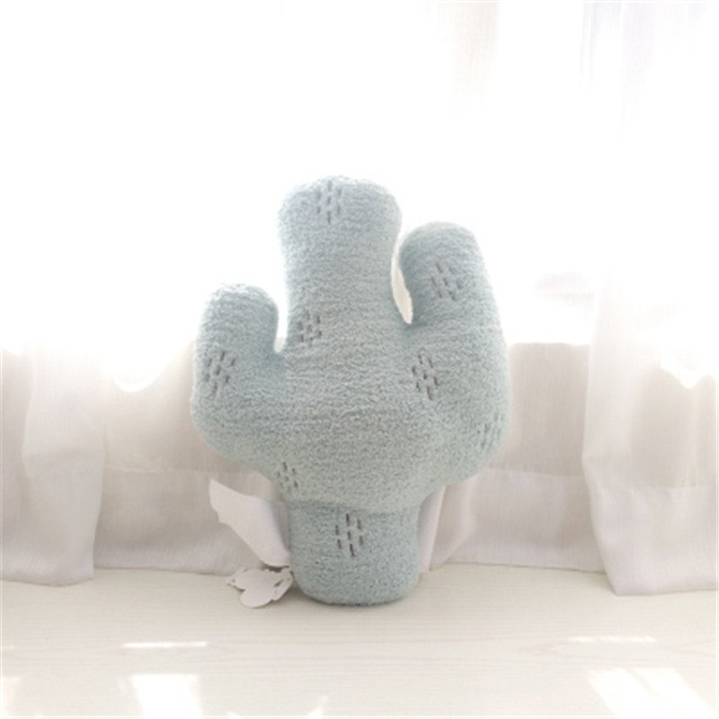 Cactus Shape Plush Blue Baby Throw Pillow