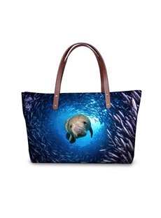 Sea World Waterproof Seal Animals 3D Printed HandBags