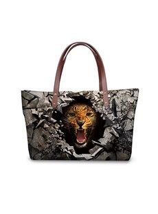 Leopard Roar in the Dark 3D Printed for Women Girls Shoulder HandBags