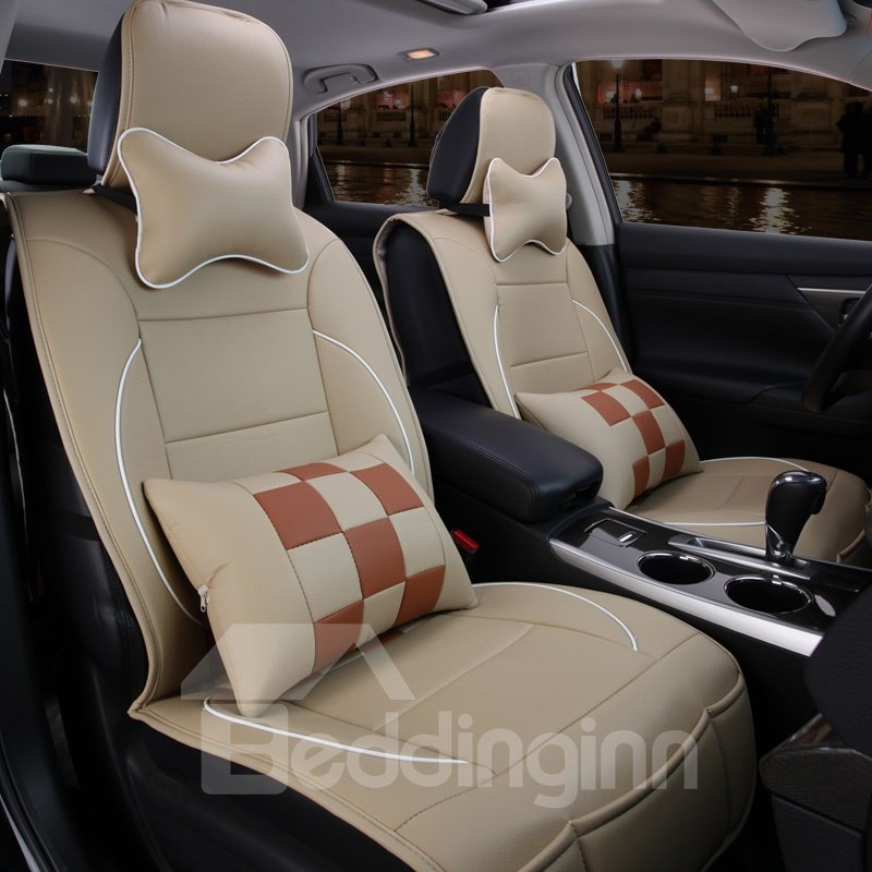 Sport Series Contrasting Color Blocks Design Universal Fit Car Seat Covers