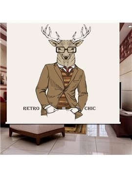 3D Elk with Glass Printed Cartoon Style Water-proof Roller Shades