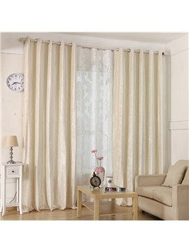 Blackout and Dust-proof Blending Jacquard Modern Damask Room Curtains