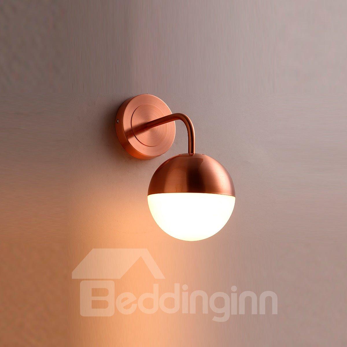 Golden Basis Hardware and Glass Modern 1-Head Decorative Wall Light