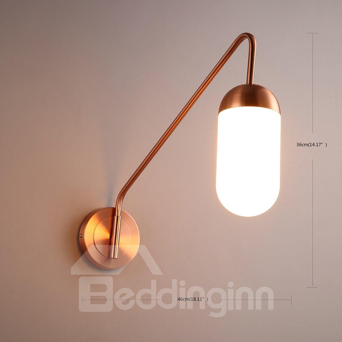 Golden Basis Hardware Modern Simple 1-Head Wall Light