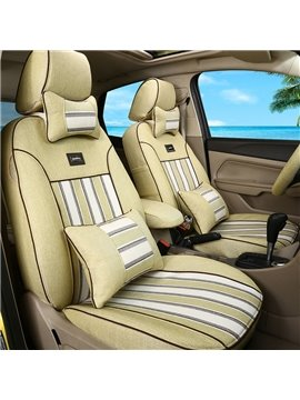 Cozy Design Classic Business Style Stripes Patterns Custom Fit Car Seat Covers