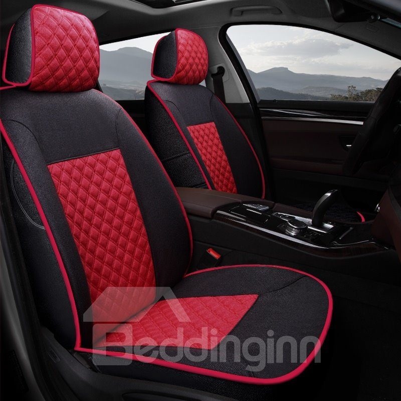 Casual Series Classic Diamond Grids Soft And Comfy Custom Fit Car Seat Covers