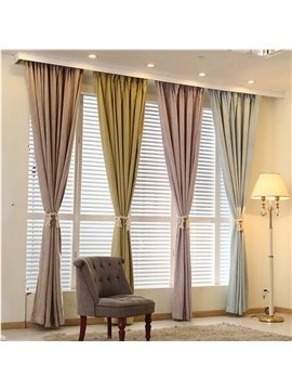 Blackout and Decoration Polyester Slubbed Fabric Romantic and Modern Room Curtains