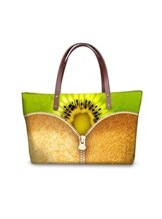 Kiwi Fruit Pattern Waterproof Sturdy 3D Printed for Women Girls Shoulder HandBags