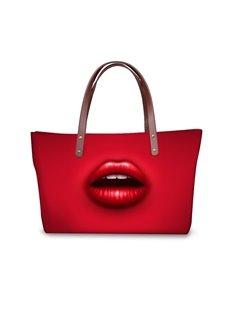 Coloful Lips Waterproof Shoulder 3D Printed HandBags