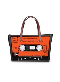 Orange Radio Type Waterproof 3D Printed Shoulder Handbag