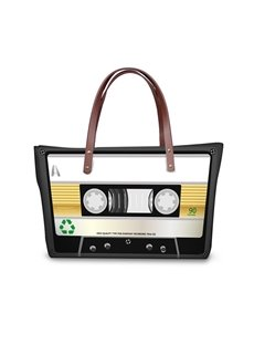 Radio Type Waterproof 3D Printed Shoulder Handbag