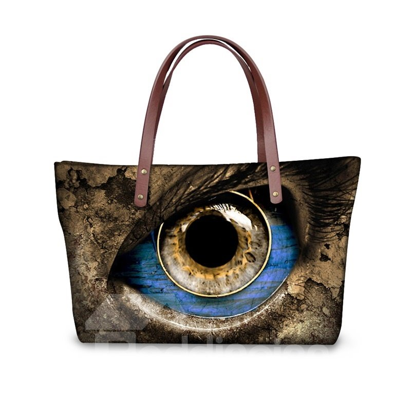 Avatar's Eye Gorgeous Waterproof Sturdy 3D Printed for Women Girls Shoulder HandBags