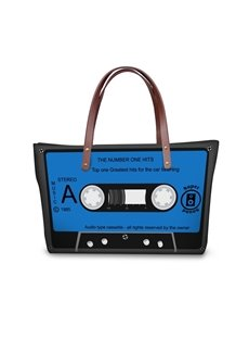 Radio Tape Blue Waterproof Sturdy 3D Printed for Women Girls Shoulder HandBags