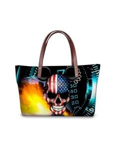 Number Skull Flag Micky Waterproof 3D Printed Shoulder Handbag