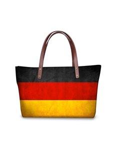 Germany Flag Pattern Waterproof Sturdy 3D Printed Shoulder HandBags