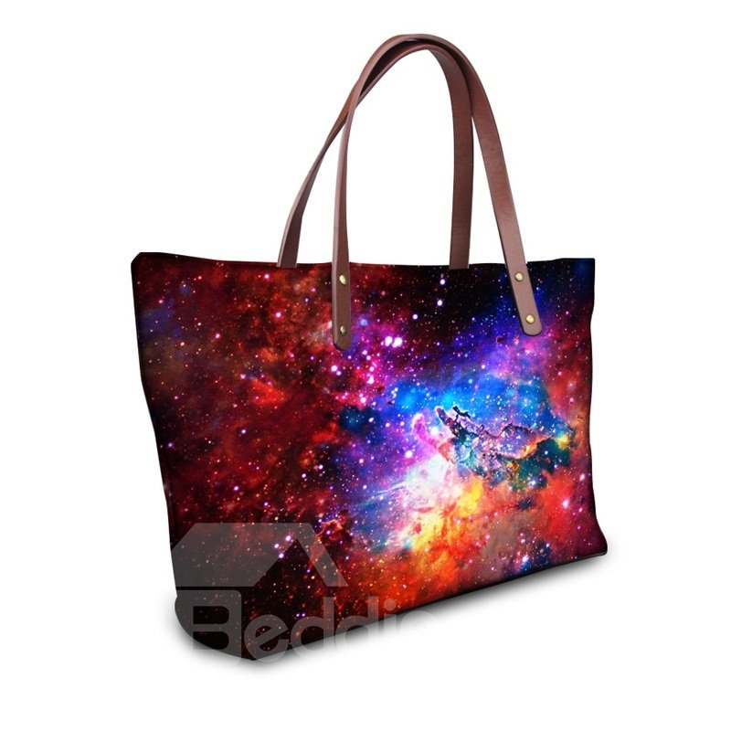 Like A Mystery Hand Galaxy Waterproof Sturdy 3D Printed for Women Girls Shoulder HandBags