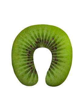 Sweet 3D Green Kiwi Print U-Shape Memory Foam Neck Pillow