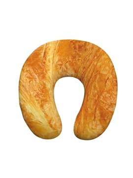 Tasteful 3D Bread Print U-Shape Memory Foam Neck Pillow