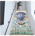 Parachute Printing 13-Piece 3D PVC Waterproof Stair Mural