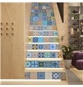Mexican Traditional Talavera 13-Piece 3D PVC Waterproof Stair Murals